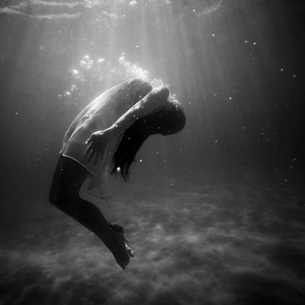 Meisje in water